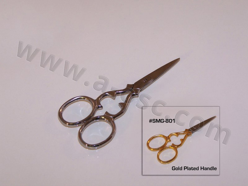 Silk and Linen Scissor gold and silver